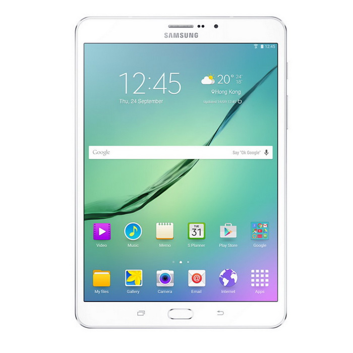 Samsung Galaxy Tab S2 2016 T719 LTE 3GB RAM 32GB ROM - WhiteAndroid Tablets<br>Form  ColorWhiteBrandOthers,SamsungModelT719Quantity1 DX.PCM.Model.AttributeModel.UnitMaterialMatel + GlassShade Of ColorWhiteProcessor BrandSamsungProcessor ModelOthers,Qualcomm MSM8976 Snapdragon 652Processor Speed1.9 DX.PCM.Model.AttributeModel.UnitNumber of CoresOcta-CoreGPUMali-T760 MP6 - T710, T715<br>Adreno 510 - T719NRAM/Memory TypeOthers,Not SpecifyBuilt-in Memory / RAMOthers,3GBCapacity / ROM32GBScreen Size8.0 inchesScreen Size7.8 inches~8.9 inchesScreen TypeOthers,Super AMOLED capacitive touchscreenTouch TypeCapacitive screenResolutionOthers,1536 x 20483G TypeOthers,HSDPA3G Frequency Range850,900,1900,21003G Function3G Phone call,Surf the Internet4G standardTD-LTEOperating SystemAndroid 5.0LTE Band Support1800 MHz,1900 MHz,2100 MHz,2600 MHz,800 MHz,850 MHz,900 MHz2G Frequency RangeGSM 850 / 900 / 1800 / 1900Supported NetworkWifi,Built-in 3G,GPS,4GGravity SensorNoWi-Fi StandardOthers,Wi-Fi 802.11 a/b/g/n/acBluetooth VersionOthers,v4.1MicrophoneYesBuilt-in SpeakersYesInterfaceOthers,microUSB v2.0 (MHL TV-out)USB ChargeYesGoogle Play(Android Market)YesCamera2 x CamerasFront Camera Pixels8 DX.PCM.Model.AttributeModel.UnitBack Camera Pixels2.1 DX.PCM.Model.AttributeModel.UnitPhotoflash LampYesStorage InterfaceSDButtonHome,Sound,PowerImagesBMP,JPGE-bookOthers,Not SpecifyVideo FormatsOthers,MP4, M4V, 3GP, 3G2, WMV, ASF, AVI, FLV, MKV, WEBMExternal Memory Max. Support32 DX.PCM.Model.AttributeModel.UnitMicrophone JackYesPower AdapterOthers,USBTip DiameterOthers,Not SpecifySupported LanguagesOthers,Not SpecifyBattery Capacity4000 DX.PCM.Model.AttributeModel.UnitBattery TypeLi-ion batteryWorking Time27 DX.PCM.Model.AttributeModel.UnitStandby Time300 DX.PCM.Model.AttributeModel.UnitCharging Time2.5 - 3.0 DX.PCM.Model.AttributeModel.UnitPacking List1 x Samsung T7191 x USB Cable1 x User Manuel<br>