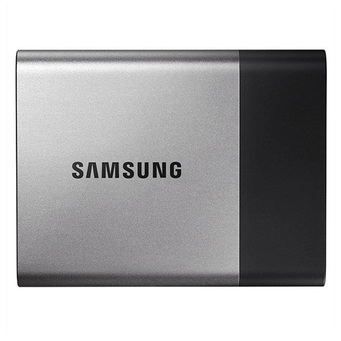 Samsung MU-PT500B T3 Series 500GB Type-C Connector Portable SSDHDD &amp; SSD<br>Form  Color500GBModelMU-PT500BQuantity1 pieceMaterialmetalInterfaceUSB3.1 Type-CCapacity / ROM500GB,500GBForm Factor2.5Max Sequential Read450 MB/sMax Sequential Write450 MB/sBrandSamsungTypeSSDApplicationPortable DevicePacking List1 x SSD<br>