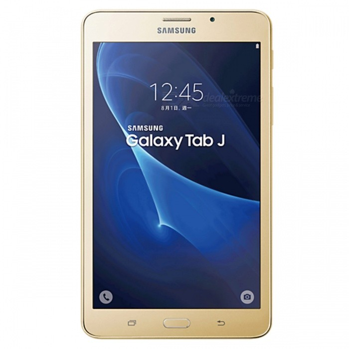 Samsung Galaxy Tab J SM-T285YD 7.0 1.5GB RAM 8GB ROM Dual SIM - GoldAndroid Tablets<br>Form  ColorGoldenBrandOthers,SamsungModelSM-T285YDQuantity1 DX.PCM.Model.AttributeModel.UnitMaterialGlass + MetalShade Of ColorGoldProcessor BrandOthers,SpreadtrumProcessor ModelOthers,SC9830AProcessor Speed1500 DX.PCM.Model.AttributeModel.UnitNumber of CoresQuad CoreGPUARM Mali-400RAM/Memory TypeDDR3 SDRAMBuilt-in Memory / RAMOthers,1.5GBCapacity / ROM8GBScreen Size7.0 inchesScreen Size7 inches &amp; UnderScreen TypeOthers,Not specifyTouch TypeCapacitive screenResolutionOthers,1280 * 7203G TypeOthers,UMTS3G Frequency Range850,900,1900,21003G Function3G Phone call,Surf the Internet4G standardFDD-LTEOperating SystemAndroid 5.1LTE Band Support2100 MHz,2600 MHz,900 MHz2G Frequency RangeGSM850, GSM900, GSM1800, GSM1900Supported NetworkWifi,Built-in 3GGravity SensorOthers,Not specifyWi-Fi StandardIEEE 802.11 b/g/nBluetooth VersionBluetooth V4.0MicrophoneYesBuilt-in SpeakersYesInterfaceOthers,Not specifyUSB ChargeYesGoogle Play(Android Market)YesCamera1 x CameraBack Camera Pixels8M DX.PCM.Model.AttributeModel.UnitStorage InterfaceOthers,Not specifyButtonHome,Sound,PowerImagesOthers,Not specifyE-bookOthers,Not specifyVideo FormatsOthers,Not specifyExternal Memory Max. Support8 DX.PCM.Model.AttributeModel.UnitMicrophone JackNoPower AdapterOthers,USBTip DiameterOthers,Not specifySupported LanguagesOthers,Not specifyBattery Capacity4000 DX.PCM.Model.AttributeModel.UnitWorking Time- DX.PCM.Model.AttributeModel.UnitStandby Time- DX.PCM.Model.AttributeModel.UnitCharging Time- DX.PCM.Model.AttributeModel.UnitPacking List1 * SM-T285YD1 * USB cable1 * Charger1 * User manual<br>