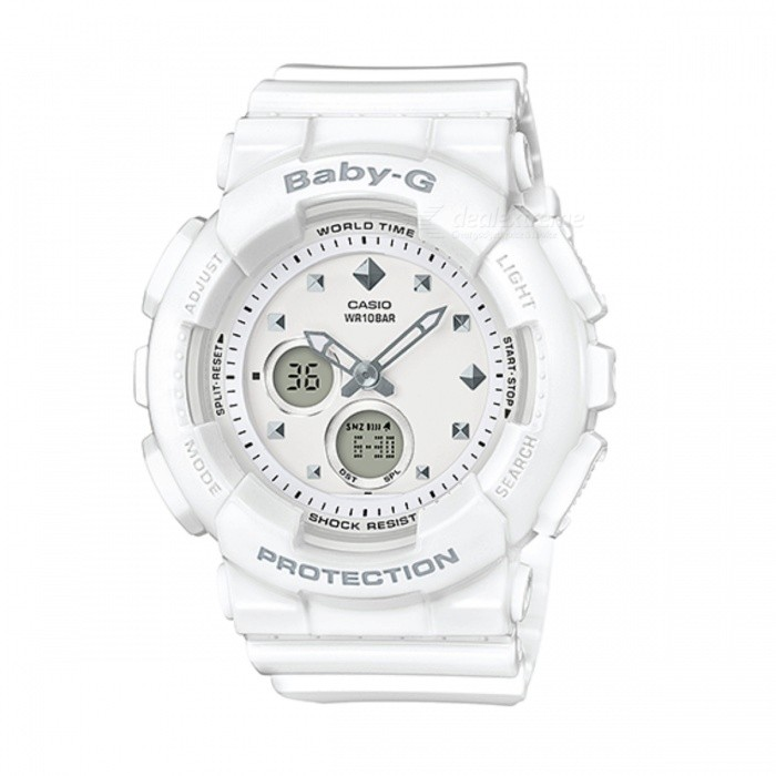 Casio Baby-G BA-125-7ADR Digital Watch - WhiteSport Watches<br>Form  ColorWhiteModelBA-125-7ADRQuantity1 DX.PCM.Model.AttributeModel.UnitShade Of ColorWhiteCasing MaterialResinWristband MaterialResinSuitable forAdultsGenderUnisexStyleWrist WatchTypeSports watchesDisplayAnalogMovementQuartzDisplay Format12/24 hour time formatWater ResistantWater Resistant 10 ATM or 100 m. Suitable for recreational surfing, swimming, snorkeling, sailing and water sports.Dial Diameter4.34 DX.PCM.Model.AttributeModel.UnitDial Thickness1.58 DX.PCM.Model.AttributeModel.UnitWristband Length22 DX.PCM.Model.AttributeModel.UnitBand Width2.5 DX.PCM.Model.AttributeModel.UnitBatteryCoin Cell BatteryPacking List1 x BA-125-7ADR<br>