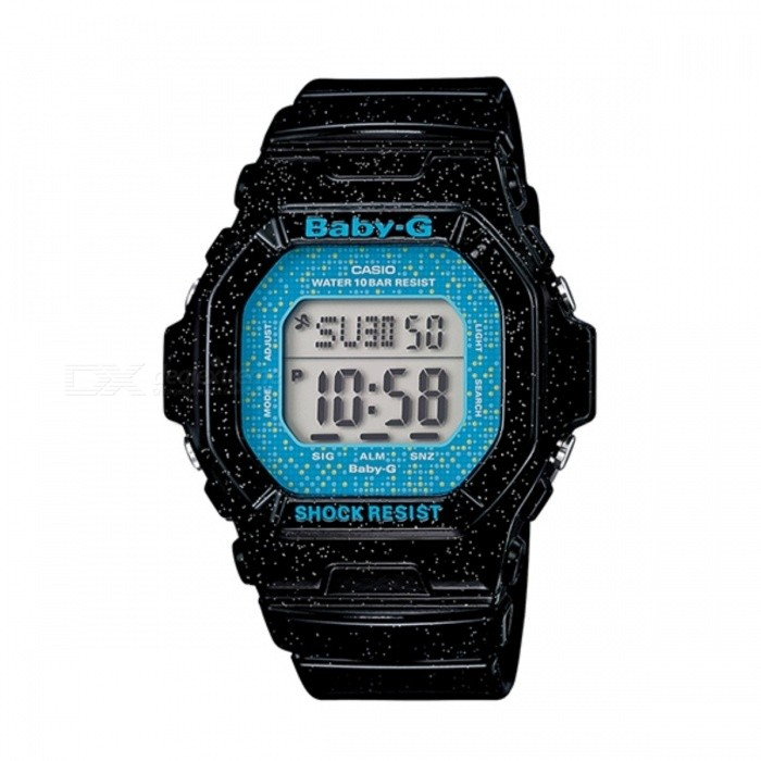 Casio Baby-G BG-5600GL-1DR Watch - Black + BlueSport Watches<br>Form  ColorBlack + BlueModelBG-5600GL-1DRQuantity1 DX.PCM.Model.AttributeModel.UnitShade Of ColorBlackCasing MaterialResinWristband MaterialResinSuitable forAdultsGenderUnisexStyleWrist WatchTypeFashion watchesDisplayDigitalMovementQuartzDisplay Format12/24 hour time formatWater ResistantWater Resistant 10 ATM or 100 m. Suitable for recreational surfing, swimming, snorkeling, sailing and water sports.Dial Diameter4.31 DX.PCM.Model.AttributeModel.UnitDial Thickness1.22 DX.PCM.Model.AttributeModel.UnitWristband Length22 DX.PCM.Model.AttributeModel.UnitBand Width2 DX.PCM.Model.AttributeModel.UnitBatterycoin cell batteryPacking List1 x BG-5600GL-1DR<br>