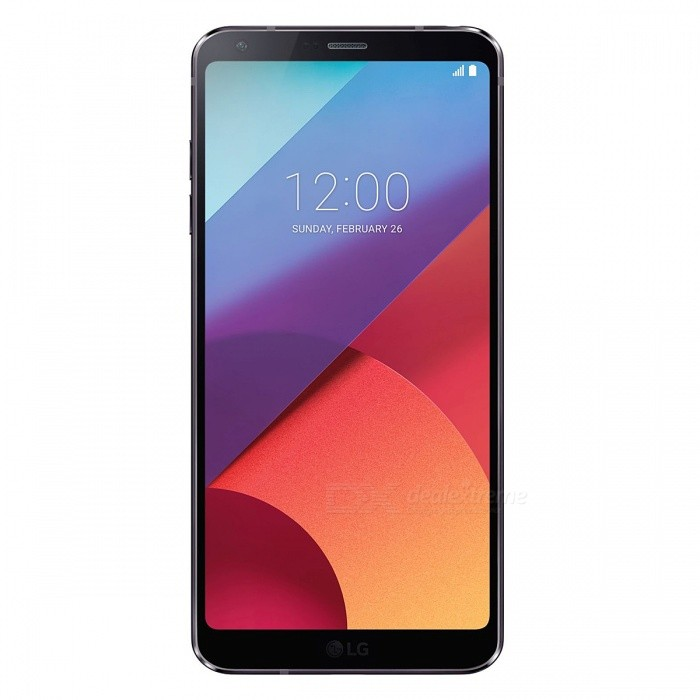 LG G6 Android 7.0 5.7 Dual SIM 4G Phone w/ 4GB RAM + 64GB ROM - BlackAndroid Phones<br>Form  ColorBlackRAM4GBROM64GBBrandLGModelG6Quantity1 setMaterialAluminium alloyShade Of ColorBlackTypeBrand NewPower AdapterOthers,KR PlugTime of Release2017Network Type2G,3G,4GBand DetailsGSM850/900/1800/1900;  UMTS2100 (B1), UMTS850 (B5), LTE2100 (B1), LTE1800 (B3), LTE850 (B5), LTE700 (B17), TD-LTE2600 (B38), TD-LTE2300 (B40)Data TransferGPRS,HSDPA,EDGE,LTE,HSUPAWLAN Wi-Fi 802.11 a,b,g,n,acSIM Card TypeNano SIMSIM Card Quantity2Network StandbyDual Network StandbyGPSYes,A-GPSNFCYesBluetooth VersionOthers,Bluetooth 5.0Operating SystemOthers,Google Android 7.0 (Nougat)CPU ProcessorQualcomm Snapdragon 821 MSM8996AC Pro, 2016, 64 bit, quad-core, 32 Kbyte I-Cache, 32 Kbyte D-Cache, 1536 Kbyte L2, 14 nmCPU Core QuantityQuad-CoreGPUQualcomm Adreno 530LanguageNot SpecifyAvailable Memory64GBMemory CardMicroSD (TF)Size Range5.5 inches &amp; OverTouch Screen TypeYesScreen ResolutionOthers,1440x2880Multitouch10Screen Size ( inches)5.7Camera Pixel13.0MPFront Camera Pixels5.0 MPVideo Recording Resolution3840x2160 pixel, 30 fps; 1920x1080 pixel, 30 fpsFlashYesAuto FocusCD AF; PD AF; Laser AFTouch FocusYesOther Camera FunctionsEIS (video), OIS, HDR photo, HDR video, Red-eye reduction, Slow motion video, Touch focus, Macro mode, Panorama Photo, Face detection, Face tagging, Smile detection, Face retouchTalk TimeN/A hourStandby TimeN/A hourBattery Capacity3300 mAhBattery ModeNon-removablefeaturesWi-Fi,GPS,Bluetooth,NFC,OTGSensorProximity,Compass,Accelerometer,Fingerprint authentication sensor,Others,Hall sensor, Light sensor, GyroscopeWaterproof LevelOthers,IP68 certified - dust/water proof over 1.5 meter and 30 minutesI/O InterfaceUSB Type-c,OTGJAVANoTV TunerNoReference Websites== Will this mobile phone work with a certain mobile carrier of yours? ==Form  ColorBlackRAM4GBROM64GBPacking List1 x Cell Phone1 x Power Adapter1 x USB Charging Cable1 x User Manual<br>