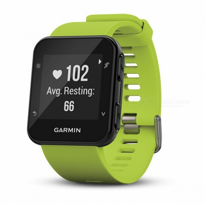 Garmin Forerunner 35 - LimelightSmart Watches<br>Form  ColorGreenModelForerunner® 35Quantity1 DX.PCM.Model.AttributeModel.UnitMaterialPlastic + metalShade Of ColorGreenCPU ProcessorN/AScreen Size0.93 DX.PCM.Model.AttributeModel.UnitScreen Resolution128 x 128 pixelsTouch Screen TypeYesBluetooth VersionBluetooth V4.0Compatible OSN/ALanguageEnglishWristband Length22 DX.PCM.Model.AttributeModel.UnitWater-proofYesBattery ModeNon-removableBattery TypeOthers,Rechargeable lithium-ionStandby Time9 DX.PCM.Model.AttributeModel.UnitPacking List1 x Forerunner 351 x Charging cable1 x Manual<br>