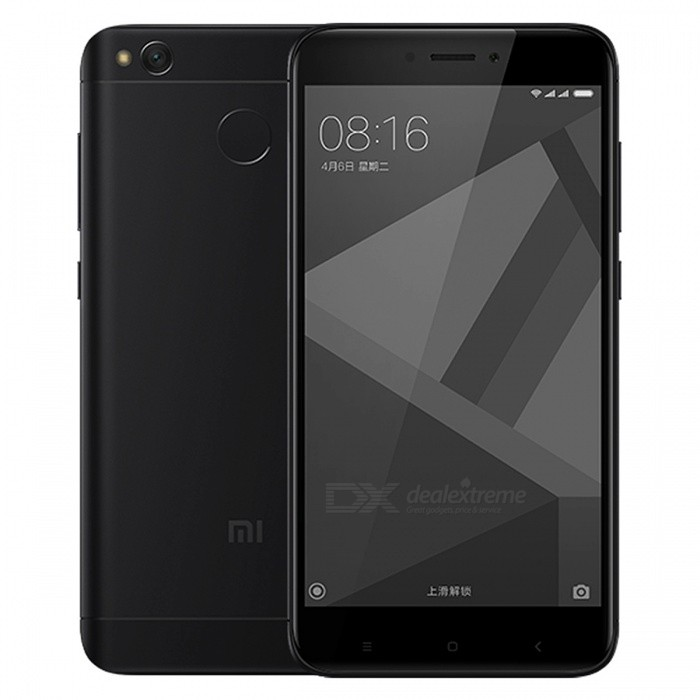 Xiaomi Redmi 4X 5.0 Dual SIM Phone w/ 2GB RAM + 16GB ROM - BlackAndroid Phones<br>Form  ColorBlackRAM2GBROM16GBBrandXiaomiModelRedmi 4XQuantity1 setMaterialMetal + GlassShade Of ColorBlackTypeBrand NewPower AdapterUS PlugsTime of Release2017Network Type2G,3G,4GBand DetailsGSM850/900/1800/1900;  UMTS2100 (B1), UMTS1900 (B2), UMTS850 (B5), UMTS900 (B8); CDMA800 (BC0), TD-SCDMA2000,  TD-SCDMA1900; LTE2100 (B1),  LTE1800 (B3), LTE850 (B5), LTE2600 (B7), LTE900 (B8), TD-LTE2600 (B38), TD-LTE1900 (B39), TD-LTE2300 (B40), TD-LTE2500 (B41)Data TransferGPRS,HSDPA,EDGE,LTE,HSUPAWLAN Wi-Fi 802.11 b,g,nSIM Card TypeMicro SIM,Nano SIMSIM Card Quantity2Network StandbyDual Network StandbyGPSYes,A-GPSBluetooth VersionBluetooth V4.2Operating SystemAndroid 6.0CPU ProcessorQualcomm Snapdragon 435 MSM8940, 2016, 64 bit, octa-core, 28 nmCPU Core QuantityOcta-CoreGPUQualcomm Adreno 505LanguageNot SpecifyAvailable Memory16GBMemory CardmicroSDSize Range5.0~5.4 inchesTouch Screen TypeCapacitive ScreenScreen Resolution1280*720MultitouchOthers,YesScreen Size ( inches)5.0Camera Pixel13.0MPFront Camera Pixels5.0 MPVideo Recording Resolution1920x1080 pixel, 30 fpsFlashYesAuto FocusPD AFTouch FocusYesOther Camera FunctionsHDR photo, HDR video, Red-eye reduction, Macro mode, Panorama Photo, Face detection, Smile detectionTalk Time36 hoursStandby TimeN/A hourBattery Capacity4100 mAhBattery ModeNon-removablefeaturesWi-Fi,GPS,FM,Bluetooth,OTGSensorProximity,Compass,Accelerometer,Gesture,Fingerprint authentication sensor,Others,Hall sensor, Light sensor, GyroscopeWaterproof LevelIPX0 (Not Protected)Shock-proofNoI/O InterfaceOTG,Others,USB Micro-ABJAVANoTV TunerNoRadio TunerFMReference Websites== Will this mobile phone work with a certain mobile carrier of yours? ==Packing List1 x Cell Phone1 x Power Adapter1 x USB Charging Cable1 x User Manual<br>