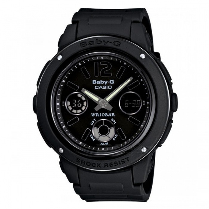 Casio Baby-G Standard Analog Digital BGA-151-1BSport Watches<br>Form  ColorBlackModelBGA-151-1BQuantity1 DX.PCM.Model.AttributeModel.UnitShade Of ColorBlackCasing MaterialResinWristband MaterialResinSuitable forAdultsGenderUnisexTypeFashion watchesDisplayAnalogMovementDigitalDisplay Format12/24 hour time formatWater ResistantWater Resistant 10 ATM or 100 m. Suitable for recreational surfing, swimming, snorkeling, sailing and water sports.Dial Diameter4.28 DX.PCM.Model.AttributeModel.UnitDial Thickness1.28 DX.PCM.Model.AttributeModel.UnitWristband Length21 DX.PCM.Model.AttributeModel.UnitBand Width2 DX.PCM.Model.AttributeModel.UnitBattery1 x CR1220Packing List1 x  BGA-151-1BDR<br>