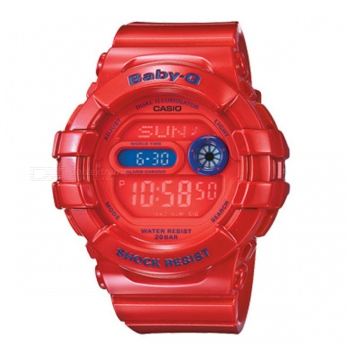 Casio Baby-G Dual Illuminator Watch BGD-140-4Sport Watches<br>Form  ColorRedModelBGD-140-4Quantity1 DX.PCM.Model.AttributeModel.UnitCasing MaterialResinWristband MaterialResinDial Diameter4.2 DX.PCM.Model.AttributeModel.UnitDial Thickness1.5 DX.PCM.Model.AttributeModel.UnitWristband Length21 DX.PCM.Model.AttributeModel.UnitBand Width2 DX.PCM.Model.AttributeModel.UnitBattery5 years on CR2016Packing List1 x BGD-140-4DR<br>