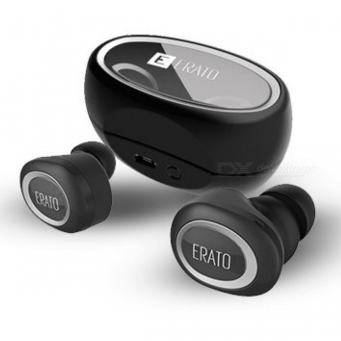 ERATO Muse 5 Wireless Stereo - BlackOther Bluetooth Devices<br>Form  ColorBlackModelMuse 5MaterialPlasticQuantity1 setShade Of ColorBlackOperating Range10 meterStandby Time100 hoursBuilt-in Battery Capacity 100 mAhPacking List1 x Muse 54 x Set of Ear Gels 3 x Set of FitSeal Ear pads1 x Charging Box1 x Charging Cable<br>