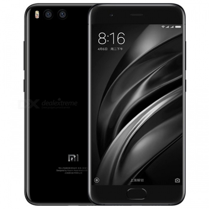 Xiaomi MI 6 5.15 Android Dual SIM Phone w/ 6+64GB - BlackAndroid Phones<br>Form  ColorBlack (CN Version)RAM6GBROM64GBBrandXiaomiModelXiaomi MI 6Quantity1 pieceMaterialGlass + MetalShade Of ColorBlackTypeBrand NewPower AdapterOthers,2-Flat-Pin PlugNetwork Type2G,3G,4GBand DetailsGSM 850/900/1800/1900MHz;  UMTS 2100/1900/850/900MHz;  CSMA 800MHz;  TD-SCDMA 2000/1900MHz;  LTE 2100/1800/850/2600/900MHz;  TD-LTE 2600/1900/2300/2500MHzData TransferGPRS,LTE,HSUPAWLAN Wi-Fi 802.11 a,b,g,n,ac,Others,dual-band, Wi-Fi Direct, DLNA, hotspotSIM Card TypeNano SIMSIM Card Quantity2Network StandbyDual Network StandbyGPSYes,A-GPS,BDS,GLONASSNFCYesInfrared PortNoBluetooth VersionOthers,Bluetooth V5.0, A2DP, LEOperating SystemOthers,Google Android 7.1.1 (Nougat)CPU ProcessorQualcomm Snapdragon 835 MSM8998, 2017, 64 bit, Octa-core 2.45GHz, 32 Kbyte I-Cache, 32 Kbyte D-Cache, 2048 Kbyte L2, 10 nmCPU Core QuantityOcta-CoreGPUQualcomm Adreno 540 GPULanguageN/AAvailable Memory54GBMemory CardDo not supportSize Range5.0~5.4 inchesTouch Screen TypeCapacitive ScreenScreen Resolution1920*1080Screen Size ( inches)Others,5.15Camera PixelOthers,Dual 12.0MPFront Camera Pixels8 MPVideo Recording Resolution2160p@30fps, 1080p@30fps, 720p@120fpsFlashYesAuto FocusYesTouch FocusYesOther Camera FunctionsPrimary Camera: Dual 12 MP (27mm, f/1.8, OIS 4-axis &amp; 52mm, f/2.6), phase detection autofocus, dual-LED (dual tone) flash; <br>Features; 1/2.9 sensor size, 1.25 µm @ 27mm &amp; 1.0 µm @ 52mm pixel size, geo-tagging, touch focus, face detection, HDR, panorama; <br>Secondary Camera: 8 MP, 1080pTalk TimeN/A hourStandby TimeN/A hourBattery Capacity3350 mAhBattery ModeNon-removablefeaturesWi-Fi,GPS,Bluetooth,NFC,OTGSensorProximity,Compass,Accelerometer,Gesture,Barometer,Fingerprint authentication sensor,Others,Gyro, Hall sensor, Light sensorWaterproof LevelIPX0 (Not Protected)I/O InterfaceUSB Type-c,Others,Type-C 1.0 reversible connectorFormat SupportedPCM/AAC/AAC+/eAAC+/MP3/AMRNB and WB/FLAC/WAV; H.265/HEVC(Main profile)/H.264(Baseline/Main/High profile)/MPEG4(Simple profile/ASP)/VC-1(Simple/Main/Advanced profile); JPEG/PNG/GIF/BMPJAVANoReference Websites== Will this mobile phone work with a certain mobile carrier of yours? ==Form  ColorBlackRAM6GBROM64GBPacking List1 x Xiaomi MI 6 4G Smart Phone1 x Power Adapter1 x Type-C charging cable1 x Type-C to AUDIO Cable1 x SIM tool1 x User Manual<br>