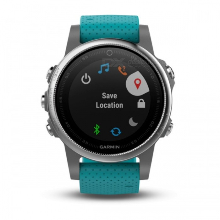 GARMIN Fenix 5S Smart Watch - TurquoiseSmart Watches<br>Form  ColorGreen + SilverModelGarmin f?nix 5SQuantity1 DX.PCM.Model.AttributeModel.UnitMaterialStainless steelShade Of ColorGreenCPU ProcessorNot specifyScreen Size1.1 DX.PCM.Model.AttributeModel.UnitScreen Resolution218 x 218 pixelsTouch Screen TypeYesBluetooth VersionOthers,Low Energy (all versions)Compatible OSiPhone®, Android, Windows®LanguageNot specifyWristband Length22 DX.PCM.Model.AttributeModel.UnitWater-proofOthers,10 ATMBattery ModeReplacementStandby Time14 DX.PCM.Model.AttributeModel.UnitPacking List1 x GARMIN Fenix 5S Smart Watch1 x Charging/data cable1 x User manual<br>