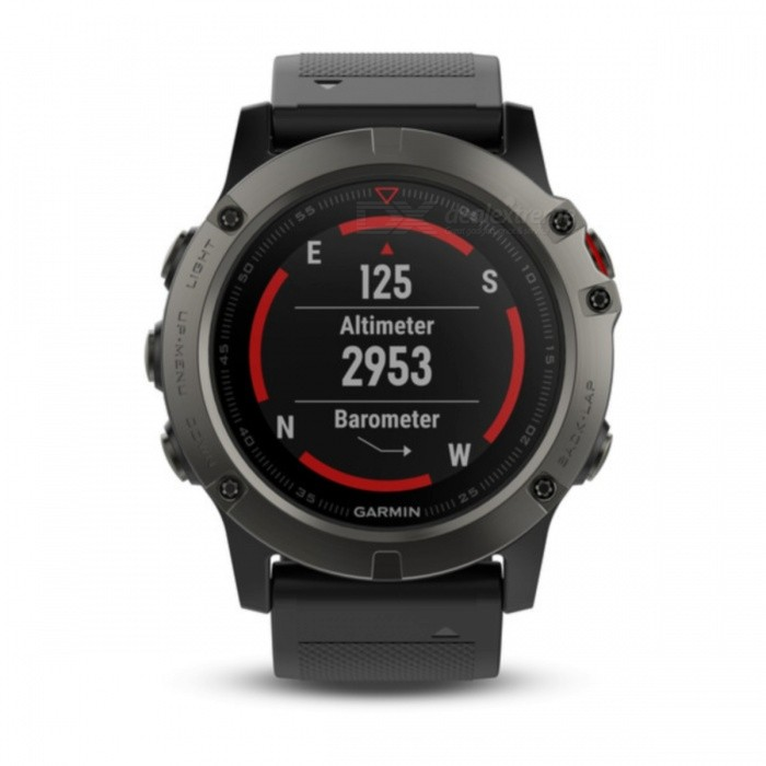 GARMIN Fenix 5X Sapphire Smart Watch - Slate Gray + BlackSmart Watches<br>Form  ColorGrey + BlackModelGarmin f?nix 5XQuantity1 setMaterialStainless steelShade Of ColorGrayCPU ProcessorNot specifyScreen Size1.2 inchScreen Resolution240 x 240 pixelsTouch Screen TypeYesBluetooth VersionOthers,Low Energy (all versions)Compatible OSiPhone®, Android, Windows®LanguageNot specifyWristband Length22 cmWater-proofOthers,10 ATMBattery ModeReplacementStandby Time20 hoursPacking List1 x GARMIN Fenix 5X Smart Watch1 x Charging/data cable1 x User manual<br>