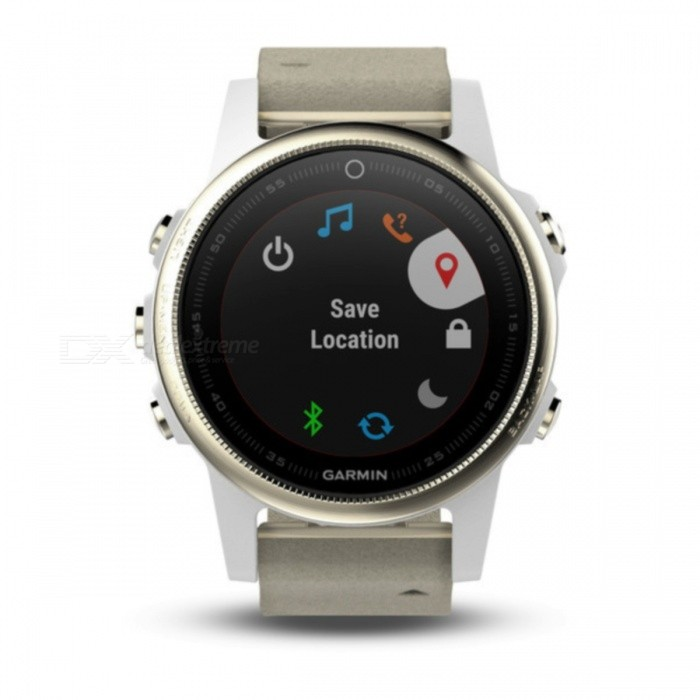GARMIN Fenix 5S Sapphire HR Smart Watch - Champagne + GraySmart Watches<br>Form  ColorChampagne + Gray ModelGarmin f?nix 5SQuantity1 DX.PCM.Model.AttributeModel.UnitMaterialStainless steelCPU ProcessorNot specifyScreen Size1.1 DX.PCM.Model.AttributeModel.UnitScreen Resolution218 x 218 pixelsTouch Screen TypeYesBluetooth VersionOthers,Low Energy (all versions)Compatible OSiPhone®, Android, Windows®LanguageNot specifyWristband Length22 DX.PCM.Model.AttributeModel.UnitWater-proofOthers,10 ATMBattery ModeReplacementStandby Time14 DX.PCM.Model.AttributeModel.UnitPacking List1 x GARMIN Fenix 5S Smart Watch1 x Charging/data cable1 x User manual<br>