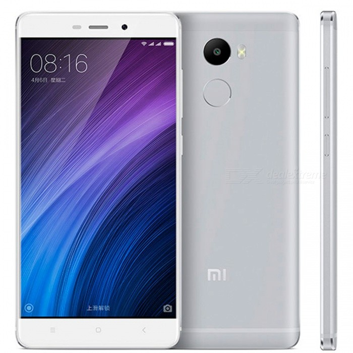 Xiaomi Redmi 4 5.0 Dual SIM Phone with 2GB RAM, 16GB ROM - SilverAndroid Phones<br>Form  ColorSilverRAM2GBROM16GBBrandXiaomiModelRedmi 4Quantity1 setMaterialMetalShade Of ColorSilverTypeBrand NewPower AdapterOthers,2-Flat-Pin PlugTime of Release2016Network Type2G,3G,4GBand DetailsGSM850/900/1800/1900;  UMTS2100 (B1), UMTS1900 (B2), UMTS850 (B5), UMTS900 (B8); CDMA800 (BC0), TD-SCDMA2000,  TD-SCDMA1900; LTE2100 (B1),  LTE1800 (B3), LTE850 (B5), LTE2600 (B7), LTE900 (B8), TD-LTE2600 (B38), TD-LTE1900 (B39), TD-LTE2300 (B40), TD-LTE2500 (B41)Data TransferGPRS,HSDPA,EDGE,LTE,HSUPAWLAN Wi-Fi 802.11 a,b,g,n,Others,Wi-Fi Direct, Wi-Fi TetheringSIM Card TypeMicro SIM,Nano SIMSIM Card Quantity2Network StandbyDual Network StandbyGPSYes,A-GPSInfrared PortYesBluetooth VersionBluetooth V4.1Operating SystemAndroid 6.0CPU ProcessorQualcomm Snapdragon 430 MSM8937, 2016, 64 bit, octa-core, 28 nm,  1400 MHzCPU Core QuantityOcta-CoreGPUQualcomm Adreno 505, 450 MHzLanguageNot SpecifyAvailable Memory16GBMemory CardmicroSDSize Range5.0~5.4 inchesTouch Screen TypeOthers,Color IPS TFT LCDScreen Resolution1280*720Multitouch10Screen Size ( inches)5.0Screen Edge2.5D Curved EdgeCamera Pixel13.0MPFront Camera Pixels5.0 MPVideo Recording Resolution1080P / 720P, 30fpsFlashYesAuto FocusPD AFTouch FocusYesOther Camera FunctionsHDR photo, HDR video, Red-eye reduction, Macro mode, Panorama Photo, Face detection, Smile detection, Face tagging, Smile detection, Face retouchTalk Time48 hoursStandby Time60 hoursBattery Capacity4100 mAhBattery ModeNon-removablefeaturesWi-Fi,GPS,Bluetooth,OTGSensorProximity,Compass,Accelerometer,Gesture,Fingerprint authentication sensor,Others,Hall sensor, Light sensorWaterproof LevelIPX0 (Not Protected)I/O InterfaceMicro USB,OTGReference Websites== Will this mobile phone work with a certain mobile carrier of yours? ==Packing List1 x Cell Phone1 x Power Adapter1 x USB Charging Cable1 x User Manual1 x Pin<br>