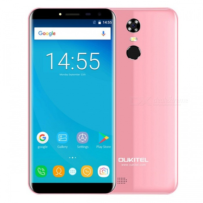 OUKITEL C8 5.5 HD 18:9 Quad-core 3G Phone w/ 2GB RAM 16GB ROM - PinkAndroid Phones<br>Form  ColorPinkRAM2GBROM16GBBrandOUKITELModelC8Quantity1 pieceMaterialPlastic+Matt LaminationShade Of ColorPinkTypeBrand NewPower AdapterEU PlugHousing Case MaterialPlastic+Matt LaminationNetwork Type2G,3GBand Details2G: GSM 850/900/1800/1900MHz; 3G: WCDMA 900/2100MHz;Data TransferGPRSWLAN Wi-Fi 802.11 b,g,nSIM Card TypeMicro SIM,Nano SIMSIM Card Quantity2Network StandbyDual Network StandbyGPSYesNFCNoInfrared PortNoBluetooth VersionBluetooth V4.0Operating SystemOthers,Android 7.0CPU ProcessorMT6580A 1.3GHzCPU Core QuantityQuad-CoreGPUMali400 MP2LanguageAfrikaans, Indonesian, Malay, Czech, Danish, Germany(German), Germany (Austria), English(United Kingdom), English(United States), Spanish(Espana), Spanish(Estados Unidos), Filipino, French, Croatian, Zulu, Italian, Swahili, Latviesu, Lithuanian, Hungarian, Dutch, Norsk bokmal, Polish, Portuguese(Brasil), Portuguese(Portugal), Romanian, Rumantsch, Slovak, Slovenscina, Finnish, Swedish, Vietnamese, Turkish, Russian, Greek, Hebrew, Arabic, Hindi, Thai, Korean, Simplified Chinese, Traditional ChineseAvailable Memory13.6GBMemory CardMicro SDMax. Expansion Supported32GBSize Range5.5 inches &amp; OverTouch Screen TypeIPSScreen ResolutionOthers,1280*640Multitouch5Screen Size ( inches)5.5Screen Edge2D Curved EdgeCamera type2 x CamerasCamera Pixel13.0MPFront Camera Pixels5.0 MPFlashYesAuto FocusYesTouch FocusYesTalk Time8 hourStandby Time3 daysBattery Capacity3000 mAhBattery ModeReplacementfeaturesWi-Fi,GPS,FM,BluetoothSensorFingerprint authentication sensorWaterproof LevelIPX0 (Not Protected)Shock-proofNoI/O Interface3.5mmSoftwarePlay Store, E-mail, Gmail, Calculator, File manager, Clock, Calendar, Gallery, Video Player, Music, Sound Recorder, FM RadioFormat Supportedmp4 m4v 3gpp wmv mkv aviJAVANoTV TunerNoRadio TunerFMReference Websites== Will this mobile phone work with a certain mobile carrier of yours? ==Packing List1 x Phone1 x EU plug power adapter1 x English user manual1 x Protective rubber sleeve<br>