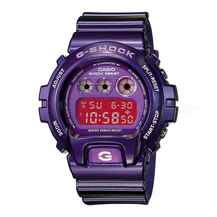 Casio G-Shock DW-6900CC-6 200-meter Water Resistance Digital Watch with EL Backlight - PurpleSport Watches<br>Form  ColorPurpleModelDW-6900CC-6Quantity1 pieceShade Of ColorPurpleCasing MaterialResinWristband MaterialResinSuitable forAdultsGenderUnisexStyleWrist WatchTypeCasual watchesDisplayDigitalMovementDigitalDisplay Format12/24 hour time formatWater ResistantOthers,200-meter water resistanceDial Diameter5.32 cmDial Thickness1.63 cmWristband Length22 cmBand Width2.5 cmBattery1 x CR2016Packing List1 x DW-6900CC-6 Watch<br>