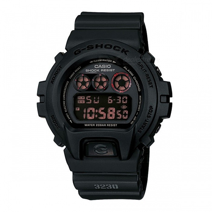 Casio G-Shock DW-6900MS-1 200-meter Water Resistance Digital Watch with EL Backlight - BlackSport Watches<br>Form  ColorBlackModelDW-6900MS-1Quantity1 pieceShade Of ColorBlackCasing MaterialResinWristband MaterialResinSuitable forAdultsGenderUnisexStyleWrist WatchTypeCasual watchesDisplayDigitalMovementDigitalDisplay Format12/24 hour time formatWater ResistantOthers,200-meter water resistanceDial Diameter5.32 cmDial Thickness1.63 cmWristband Length22 cmBand Width2.5 cmBattery1 x CR2016Packing List1 x DW-6900MS-1 Watch<br>
