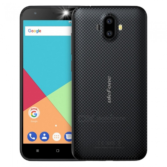 Ulefone S7 Android 7.0 5.0 HD Quad-core Dual Sim Dual Standby 3G Phone with 1GB RAM, 8GB ROM - BlackAndroid Phones<br>Form  ColorBlackRAM1GBROM8GBBrandUlefoneModelS7Quantity1 pieceMaterialPCShade Of ColorBlackTypeBrand NewPower AdapterEU PlugHousing Case MaterialPCTime of Release2017.9.30Network Type2G,3GBand DetailsGSM:850/900/1800/1900(B5/8/3/2.WCDMA: 2100/900(B1/8Data TransferGPRS,EDGEWLAN Wi-Fi 802.11 b,g,nSIM Card TypeStandard SIM,Micro SIMSIM Card Quantity2Network StandbyDual Network StandbyGPSYes,A-GPSNFCNoInfrared PortNoBluetooth VersionBluetooth V4.0Operating SystemAndroid 7.xCPU ProcessorQuad-core 32-bit 1.3GHzCPU Core QuantityQuad-CoreGPUMali-400LanguageIndonesian, Malay, Catalan, Czech, Danish, German, Estonian, English, Spanish, Filipino, French, Croatian, Italian, Latvian, Lithuanian, Hungarian, Dutch, Norwegian, Polish, Portuguese, Romanian, Slovak, Finnish, Swedish, Vietnamese, Greek, Turkish, Bulgarian, Russian, Serb, Ukrainian, Armenian, Hebrew, Urdu, Arabic, Persian, Hindi, Bengali, Thai, Korean, Burmese, Japanese, Simplified Chinese, Traditional ChineseAvailable Memory5GBMemory CardTF CardMax. Expansion Supported128GBSize Range5.0~5.4 inchesTouch Screen TypeCapacitive ScreenScreen Resolution1280*720Multitouch2Screen Size ( inches)5.0Camera type2 x CamerasCamera PixelOthers,(8.0MP+5.0MP) Dual rear cameraFront Camera Pixels5.0 MPFlashYesTouch FocusYesTalk Time7 hoursStandby Time80 hoursBattery Capacity2500 mAhBattery ModeReplacementfeaturesWi-Fi,GPS,BluetoothSensorG-sensorWaterproof LevelIPX0 (Not Protected)I/O Interface3.5mm,Micro USB v2.0SoftwareGoogle Normal SoftwareFormat SupportedMIDI.MP3.AAC. ARM. AWB. WAV.FLAC.3GPP.MPEG-4.H.264.WMV9.VP9TV TunerNoRadio TunerFMWireless ChargingNoOther Features5.0 Inch+ HD+ Dual Camera 8MP+5MP / 5MP+ MTK 6580  Quad-core CPU+ 3G Smartphone Rear Led Flash + EU Plug+Rear LED FlashReference Websites== Will this mobile phone work with a certain mobile carrier of yours? ==CertificationCE.MSDSPacking List1 x Phone 1 x Data cable (100cm)1 x TPU protective case1 x AC power charger adapter ( 100~240V / EU plug) 1 x Warranty card1 x Multi-language user manual<br>
