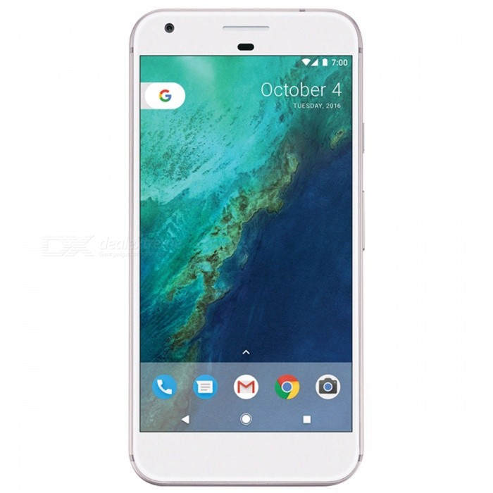 Google Pixel XL G-2PW2200 5.5 Quad-Core Phone with 4GB RAM, 128GB ROM - Silver (UK Plug)Android Phones<br>Form  ColorSilverRAM4GBROM128GBBrandOthers,GoogleModelPixel XL G-2PW2200Quantity1 setMaterialAluminium alloyShade Of ColorSilverTypeBrand NewPower AdapterUK PlugTime of Release2016Network Type2G,3G,4GBand DetailsGSM850/900/1800/1900;  UMTS2100 (B1), UMTS1900 (B2),  UMTS1700/2100 (B4), UMTS850 (B5), UMTS800 (B6), UMTS900 (B8), UMTS800 (B19),  CDMA800 (BC0); TD-SCDMA2000, TD-SCDMA1900; LTE2100 (B1),  LTE1900 (B2), LTE1800 (B3),  LTE1700/2100 (B4), LTE850 (B5), LTE2600 (B7), LTE700 (B12),  LTE700 (B13),  LTE700 (B17),  LTE800 (B18), LTE800 (B19), LTE800 (B20), LTE1500 (B21), LTE850 (B26), LTE700 (B28), LTE1500 (B32); TD-LTE2600 (B38), TD-LTE1900 (B39), TD-LTE2300 (B40), TD-LTE2500 (B41)Data TransferGPRS,HSDPA,EDGE,LTE,HSUPAWLAN Wi-Fi 802.11 a,b,g,n,ac,Others,DLNA, Miracast, Wi-Fi Tethering, Wi-Fi DirectSIM Card TypeNano SIMSIM Card Quantity1GPSYes,A-GPSNFCYesBluetooth VersionBluetooth V4.2Operating SystemOthers,Google Android 7.1 (Nougat)CPU ProcessorQualcomm Snapdragon 821 MSM8996AB Pro, 2016, 64 bit, quad-core, 32 Kbyte I-Cache, 32 Kbyte D-Cache, 1536 Kbyte L2, 14 nmCPU Core QuantityQuad-CoreGPUQualcomm Adreno 530LanguageNot SpecifyAvailable Memory114GBSize Range5.5 inches &amp; OverTouch Screen TypeYesScreen Resolution2560*1440MultitouchOthers,YesScreen Size ( inches)5.5Camera type2 x CamerasCamera Pixel12.0MPFront Camera Pixels8.0 MPVideo Recording Resolution3840x2160 pixel, 30 fps; 2592x1944 pixel, 30 fpsFlashYesAuto FocusPD AF; Laser AFTouch FocusYesOther Camera FunctionsEIS, EIS (video), HDR photo, HDR video, Macro mode, Face detection, Smile detectionTalk TimeN/A hourStandby TimeN/A hourBattery Capacity3450 mAhBattery ModeNon-removablefeaturesWi-Fi,GPS,Bluetooth,NFCSensorProximity,Compass,Accelerometer,Heart rate,Barometer,Fingerprint authentication sensor,Others,Hall sensor, Light sensor, GyroscopeWaterproof LevelOthers,3 Protection against direct sprays u