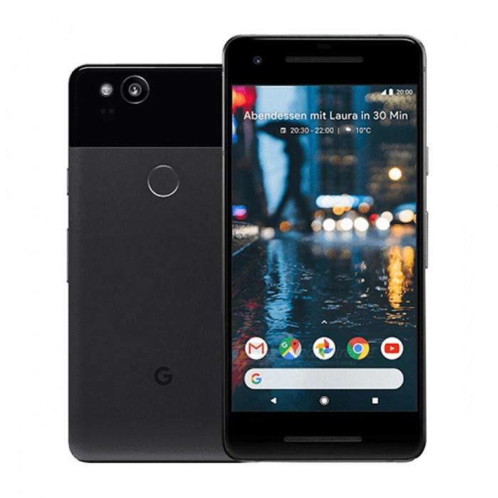 Google Pixel 2 G011A Octa-Core Single SIM 5.0 Phone with 4GB RAM, 64GB ROM - Black (US Plug)Android Phones<br>Form  ColorBlackRAM4GBROM64GBBrandOthers,GoogleModelPixel 2 G011AQuantity1 setMaterialAluminium alloyShade Of ColorBlackTypeBrand NewPower AdapterUS PlugTime of Release2017Network Type2G,3G,4GBand DetailsGSM850/900/1800/1900; UMTS2100 (B1), UMTS1900 (B2), UMTS1700/2100 (B4), UMTS850 (B5),  UMTS800 (B6), UMTS900 (B8),  UMTS800 (B19); LTE2100 (B1),  LTE1900 (B2), LTE1800 (B3),  LTE1700/2100 (B4), LTE850 (B5), LTE2600 (B7), LTE900 (B8),  LTE700 (B12),  LTE700 (B13),  LTE700 (B17), LTE800 (B20), LTE1900 (B25), LTE850 (B26), LTE700 (B28),  LTE700 (B29), LTE2300 (B30), LTE1500 (B32); TD-LTE2300 (B40), TD-LTE2500 (B41); LTE1700/2100 (B66)Data TransferGPRS,HSDPA,EDGE,LTE,HSUPAWLAN Wi-Fi 802.11 a,b,g,n,ac,Others,Wi-Fi Calling (VoWiFi), Wi-Fi TetheringSIM Card TypeNano SIM,Others,e-SIMSIM Card Quantity1GPSYes,A-GPSNFCYesBluetooth VersionOthers,Bluetooth V5.0Operating SystemOthers,Google Android 8.0 (Oreo)CPU ProcessorQualcomm Snapdragon 835 MSM8998, 2017, 64 bit, octa-core, 32 Kbyte I-Cache, 32 Kbyte D-Cache, 2048 Kbyte L2, 10 nmCPU Core QuantityOcta-CoreGPUQualcomm Adreno 540LanguageNot SpecifyAvailable MemoryN/ASize Range5.0~5.4 inchesTouch Screen TypeYesScreen Resolution1920*1080MultitouchOthers,YesScreen Size ( inches)5.0Camera type2 x CamerasCamera Pixel12.0MPFront Camera Pixels8.0 MPVideo Recording ResolutionN/AFlashYesAuto FocusPD AF; Laser AFTouch FocusYesOther Camera FunctionsEIS (video), OIS, HDR photo, HDR video,  Red-eye reduction, Slow motion video, Burst mode, Touch focus, Macro mode, Panorama Photo, Face detection, Face tagging, Smile detection, Face retouchTalk TimeN/A hourStandby TimeN/A hourBattery Capacity2700 mAhBattery ModeNon-removablefeaturesWi-Fi,GPS,Bluetooth,NFC,OTGSensorProximity,Compass,Accelerometer,Fingerprint authentication sensor,Others,Light sensor, 3D GyroscopeWaterproof LevelOthers,7 Protected against immersion up to 1m of depthDust-