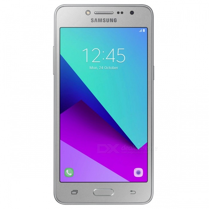 Samsung Galaxy Grand Prime+ Dual SIM Mobile Phone with 1.5GB RAM, 8GB ROM - SilverAndroid Phones<br>Form  ColorSilverRAM1.5GBROM8GBBrandSamsungModelGalaxy Grand Prime+Quantity1 setMaterial-Shade Of ColorSilverTypeBrand NewPower AdapterOthers,-Housing Case Material-Time of Release2016/11Network Type2G,3G,4GBand Details2G bands: GSM 850 / 900 / 1800 / 1900 - SIM 1 &amp; SIM 2;  3G bands: HSDPA 850 / 900 / 1900 / 2100;  4G bands: LTE band 1(2100), 3(1800), 5(850), 7(2600), 8(900), 20(800)Data TransferGPRS,EDGEWLAN Wi-Fi 802.11 b,g,nSIM Card TypeMicro SIMSIM Card Quantity2Network StandbyDual Network StandbyGPSYesNFCNoBluetooth VersionBluetooth V4.2Operating SystemAndroid 6.0CPU ProcessorMediatek MT6737TCPU Core QuantityQuad-CoreGPUMali-T720MP2LanguageNot SpecityAvailable Memory8GB ROMMemory CardSupports microSD cardMax. Expansion Supportedup to 256 GB (uses SIM 2 slot)Size Range5.0~5.4 inchesTouch Screen TypeYesScreen Resolution960*540MultitouchOthers,YesScreen Size ( inches)5.0Camera type2 x CamerasCamera Pixel8.0MPFront Camera Pixels5.0 MPFlashYesTalk Time- hourStandby Time- hourBattery Capacity2600 mAhfeaturesWi-Fi,BluetoothSensorProximity,AccelerometerWaterproof LevelIPX0 (Not Protected)I/O InterfaceMicro USB,3.5mmReference Websites== Will this mobile phone work with a certain mobile carrier of yours? ==Form  ColorSilverRAM1.5GBROM8GBPacking List1 x Cell Phone1 x Power Adapter1 x USB Cable1 x User Manual<br>