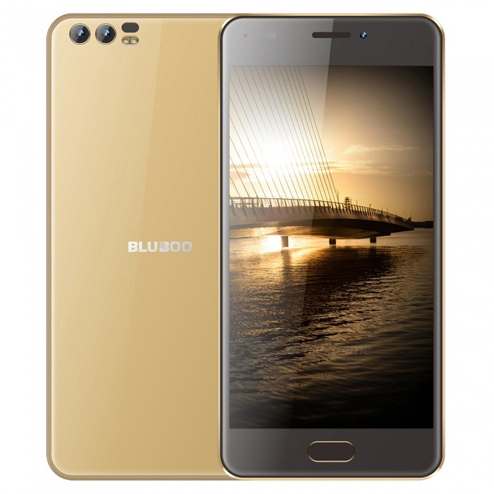 BLUBOO D2 5.0 Android 6.0 3G Phone w/ 1GB RAM, 8GB ROM - GoldenAndroid Phones<br>ColorGoldenROM8GBRAM1GBBrandOthers,blubooModelD2Quantity1 pieceMaterialPCShade Of ColorGoldTypeBrand NewPower AdapterEU PlugHousing Case MaterialPCTime of Release2017/12/15Network Type2G,3GBand DetailsGSM: B5(850)/B8(900)/B3(1800)/B2(1900) WCDMA: B1(2100)/B8(900)Data TransferGPRSWLAN Wi-Fi 802.11 b,g,nSIM Card TypeMicro SIMSIM Card Quantity2Network StandbyDual Network StandbyGPSYes,A-GPSNFCNoInfrared PortNoBluetooth VersionBluetooth V4.0Operating SystemAndroid 6.0CPU ProcessorMT6580A Quad-core 1.3GHzCPU Core QuantityQuad-CoreGPUMali-400MP2 500MHzLanguageEnglish, Spanish, Portuguese (Brazil), Portuguese (Portugal), Italian, German,  French, Russian, Arabic, Malay, Thai, Greek, Ukrainian, Croatian, Czech, Simplified Chinese, Traditional Chinese.Available Memory8GBMemory CardSDMax. Expansion Supported128GBSize Range5.0~5.4 inchesTouch Screen TypeTFTScreen Resolution1280*720Multitouch2Screen Size ( inches)5.0Screen Edge2D Curved EdgeCamera type3 x CamerasCamera PixelOthers,8.0MP+ 3.0MP FFFront Camera Pixels8.0 MPVideo Recording Resolution1080PFlashYesAuto FocusYESTouch FocusYesOther Camera FunctionsNOOther Camera FeaturesNOTalk Time14 hoursStandby Time18 hoursBattery Capacity3300 mAhBattery ModeReplacementQuick ChargeNOfeaturesWi-Fi,GPS,FM,BluetoothSensorProximity,AccelerometerWaterproof LevelIPX0 (Not Protected)Dust-proof LevelNOShock-proofNoI/O InterfaceMicro USB v2.0SoftwareNOFormat SupportedMP3, AAC,ASF,etc,MP4,3GP,MOV,MKV,AVI,FLV,MPEGJAVAYesTV TunerNoRadio TunerFMWireless ChargingQIReference Websites== Will this mobile phone work with a certain mobile carrier of yours? ==CertificationCEPacking List1 x Charger1 x USB Data Cable1 x Quick Guide1 x Warranty Card1 x Film protector1 x Phone cover 1 x Ring Phone Holder1 x Card pin<br>