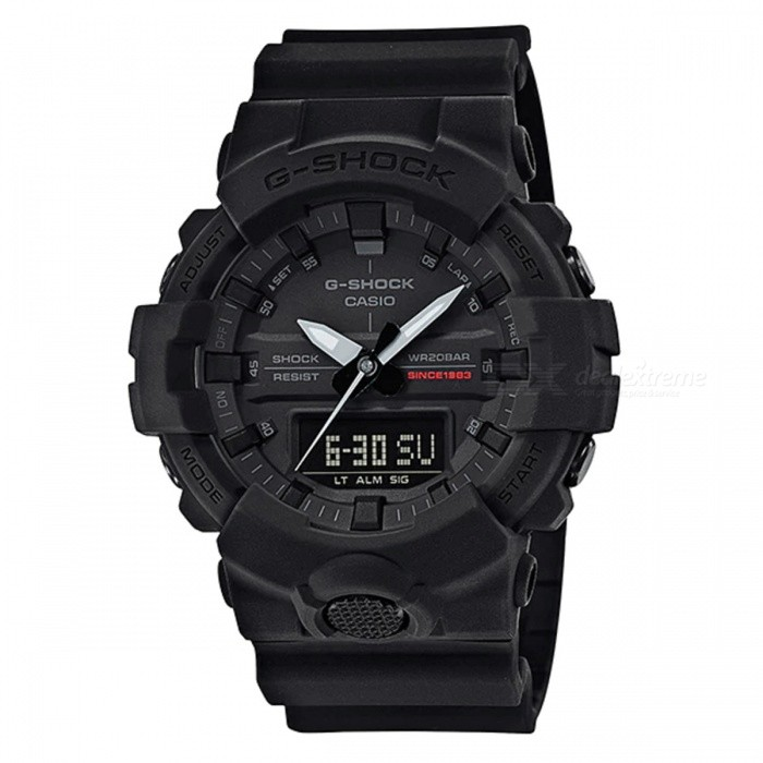 Casio G-Shock GA-835A-1A Anniversary Limited Watch - Matte BlackSport Watches<br>ColorMatte BlackModelGA-835A-1AQuantity1 pieceShade Of ColorBlackCasing MaterialResinWristband MaterialResinSuitable forAdultsGenderMenStyleWrist WatchTypeFashion watchesDisplayAnalog + DigitalMovementDigitalDisplay Format12/24 hour time formatWater ResistantOthers,200-meter water resistanceDial Diameter5.41 cmDial Thickness1.55 cmWristband Length22 cmBand Width2.2 cmBattery1 x CR2016Packing List1 x Watch1 x Guide<br>