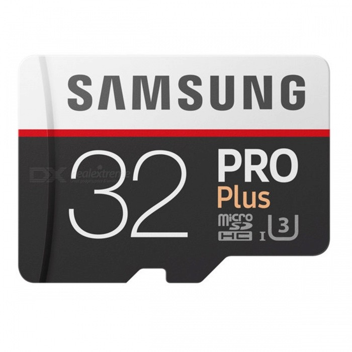 Samsung MicroSDHC PRO Plus Memory Card 32GB Class 10 USH-1 U3 Micro SD Memory Storage TF Card with AdapterMicroSD TF Cards<br>Color32GB with AdapterBrandSamsungModelMB-MD32GAQuantity1 setCapacity32GBSpeed ClassUHS-I (U3)Max Read Speed100MB/sMax Write Speed90MB/sOverwrite Protection SwitchYesPacking List1 x TF Card1 x Adapter<br>
