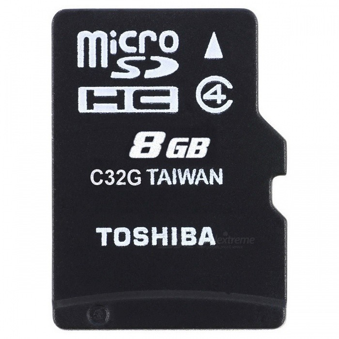 Toshiba High Speed M102 8GB Micro SD Memory Card Class 4 - THN-M102K0080M2MicroSD TF Cards<br>Capacity8GBBrandToshibaModelM102Quantity1 pieceMaterialPlasticCapacity8GBSpeed ClassClass 4Max Read Speed4 MB per secondMax Write Speed/Overwrite Protection SwitchYesPacking List1 x Memory Card<br>