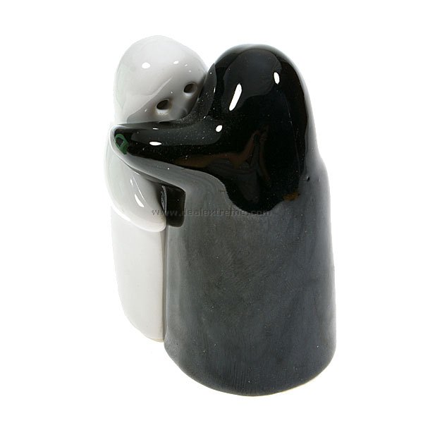 Buy Designers Huggy Table Salt and Pepper Holder (2-Piece Set) with Litecoins with Free Shipping on Gipsybee.com