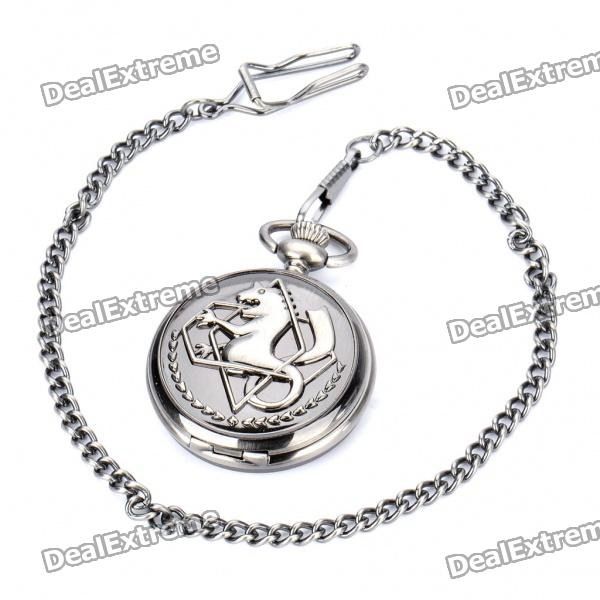 Stainless Steel Quartz Pocket Watch with Chains (1 x 377)