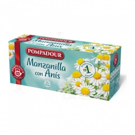 POMPADOUR 25Pcs/Box Natural Disposable Double Layer Teabags (Chamomile with Anise Flavor)