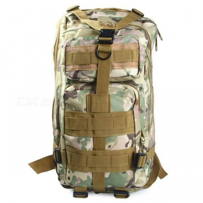25L Unisex Outdoor Military Army Tactical Backpack - CP CamouflageForm  ColorMultiCamBrandOthers,Others,N/AModel150756002Quantity1 pieceMaterialOxford FabricTypeHiking &amp; CampingGear Capacity25 LCapacity Range20L~40LFrame TypeExternalRaincover includedYesBest UseClimbing,Family &amp; car camping,Mountaineering,Travel,CyclingPacking List1 x Backpack<br>