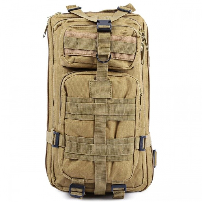 25L Unisex Outdoor Military Army Tactical Backpack - KhakiForm  ColorKhakiBrandOthers,Others,N/AModel150756005Quantity1 pieceMaterialOxford FabricTypeHiking &amp; CampingGear Capacity25 LCapacity Range20L~40LFrame TypeExternalRaincover includedYesBest UseClimbing,Family &amp; car camping,Mountaineering,Travel,CyclingPacking List1 x Backpack<br>