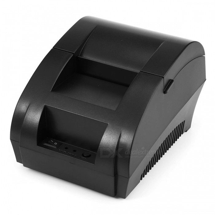 Buy Mini 58mm Low Noise POS Receipt Thermal Printer with USB Port - Black with Litecoins with Free Shipping on Gipsybee.com