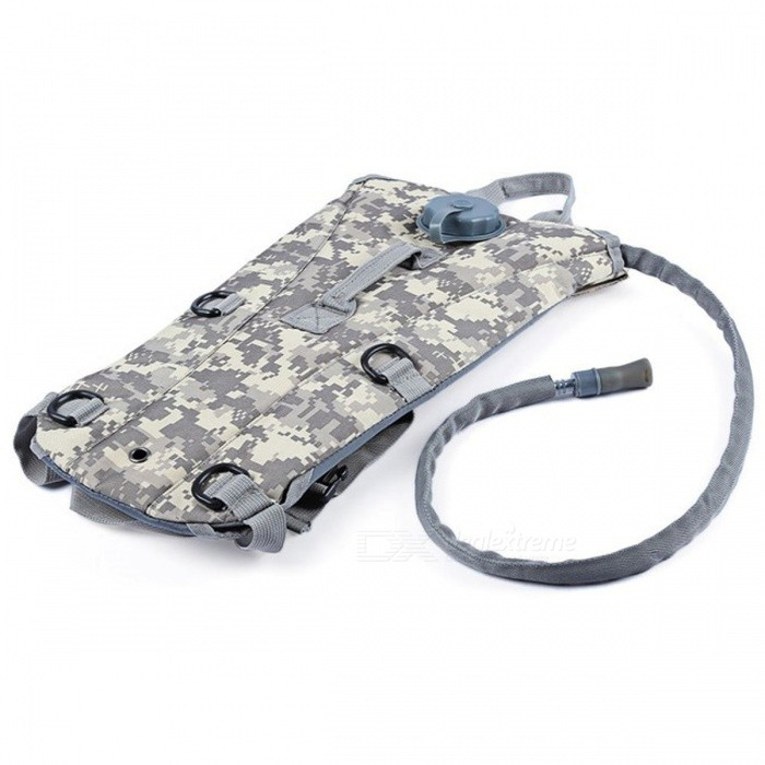 3L Water Bag Bottle Pouch Knapsack - ACU CamouflageForm  ColorACUBrandOthers,Others,N/AModelN/AQuantity1 pieceMaterialTPUTypeHiking &amp; CampingGear Capacity3 LCapacity Range0L~20LRaincover includedYesBest UseRunning,Climbing,Family &amp; car camping,Mountaineering,Travel,CyclingTypeHydration Packs,Tactical BackpacksPacking List1 x Bag<br>