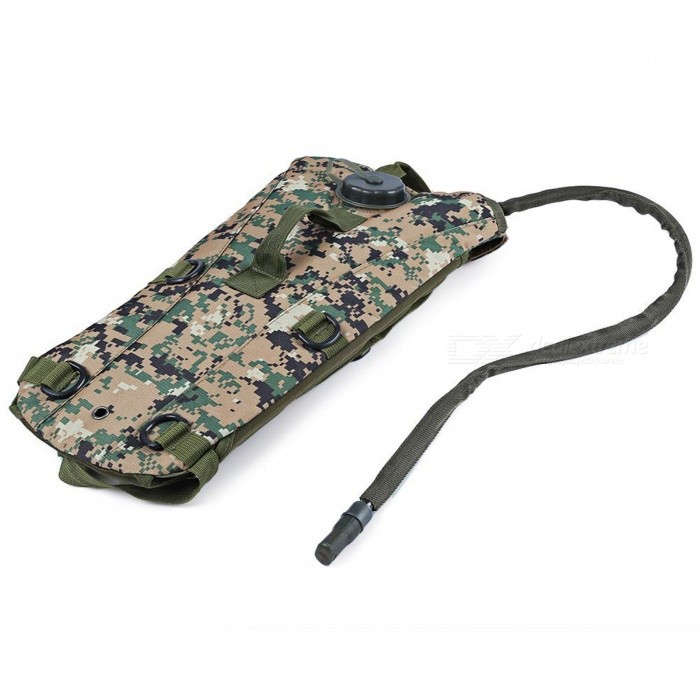 3L Water Bag Bottle Pouch Knapsack - Forest Digital CamouflageForm  ColorForest Digital CamouflageBrandOthers,Others,N/AModelN/AQuantity1 pieceMaterialTPUTypeHiking &amp; CampingGear Capacity3 LCapacity Range0L~20LRaincover includedYesBest UseRunning,Climbing,Family &amp; car camping,Mountaineering,Travel,CyclingTypeHydration Packs,Tactical BackpacksPacking List1 x Bag<br>