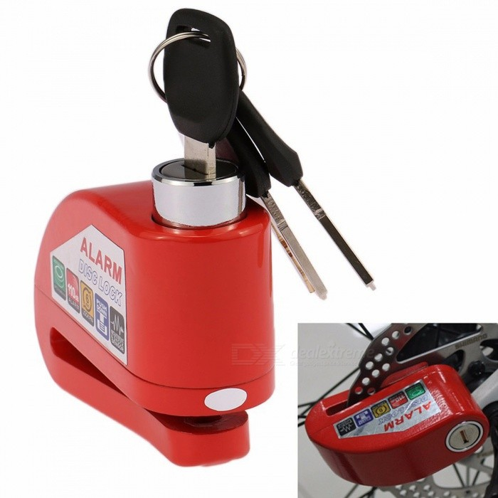 Motorcycle Moto Scooter Bicycle Disc Brake Anti-theft Lock - RedMotorcycle Alarm &amp; Security<br>Form  ColorRedQuantity1 pieceMaterialAlloy steelPacking List1 x Lock3 x Keys<br>