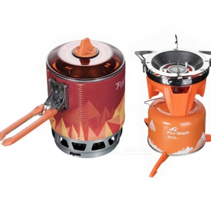 Fire-Maple X3 0.8L One-Piece Camping Stove Heat Exchanger Pot - Orange