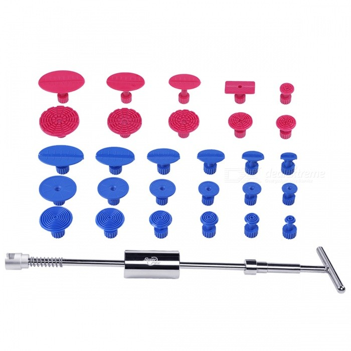29 Pcs Dent Puller  Repair Tool setOther Tools<br>Form  ColorSilverQuantity1 DX.PCM.Model.AttributeModel.UnitMaterialStainless steel, PlasticPacking List1 x T Puller18 x Blue Gule Tabs10 x Red Glue Tabs2 x Yellow glue stick( free gift)<br>