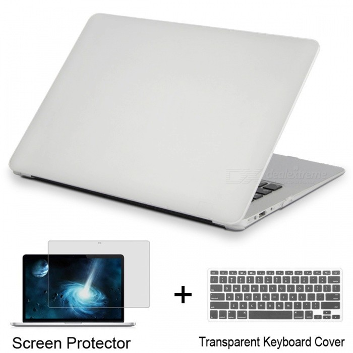 Laptop Case For Apple MacBook Air 11 - Matte TransparentNetbook&amp;Laptop Cases<br>Form  ColorMatte Transparent (Air 11)Quantity1 setShade Of ColorTransparentMaterialPVCCompatible BrandAPPLECompatible Size11.6 inchPacking List1 x Laptop case1 x Transparent keyboard cover (gift)1 x Screen protector (gift)<br>