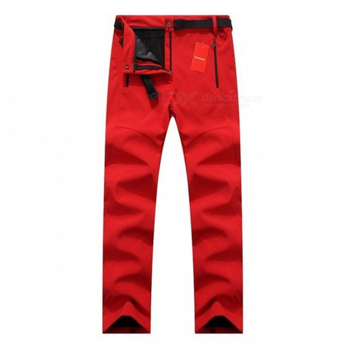 Thick Warm Fleece Softshell Pants for Women - RedForm  ColorRedSizeXXXLQuantity1 pieceMaterialPolyesterShade Of ColorRedSeasonsAutumn and WinterGenderWomensWaist96 cmHip Girth111 cmTotal Length106 cmBest UseCamping,TravelSuitable forAdultsPacking List1 x Pants<br>