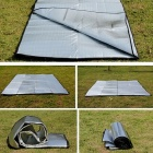 Windpoof Foldable Sleeping Camping Madrass Matta Pad-silver
