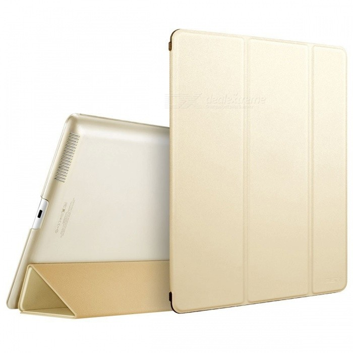 Ultra Slim Smart Cover Case for iPad 2/3/4 - Champagne GoldenIpad Cases<br>Form  ColorChampagne GoldQuantity1 pieceMaterialPU LeatherShade Of ColorGoldCompatible ModelsIPAD 4,THE NEW IPAD(IPAD 3),IPAD 2DesignSolid ColorTypeCases with Stand,Leather Cases,Full Body CasesAuto Wake-up / SleepYesPacking List1 x Case<br>