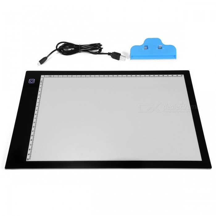 A4 LED Artist Thin Art Stencil Drawing Board Tracing Table Pad