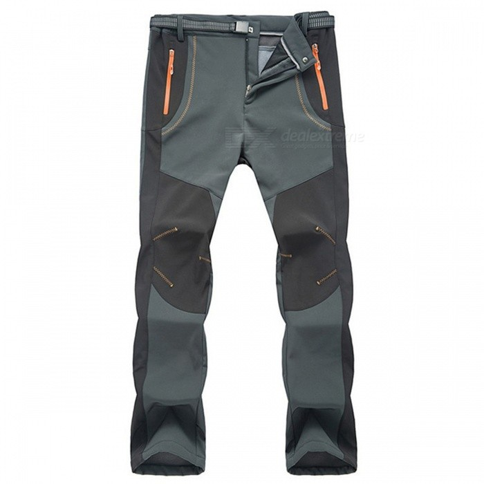 Winter-Men-Hiking-Pants-Outdoor-Softshell-Trousers-Dark-Grey