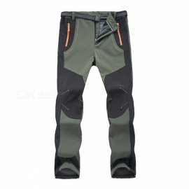 Outdoor-Softshell-Mens-Warm-Pants-for-Winter-Army-Green