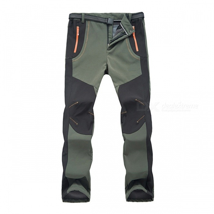 Outdoor Softshell Mens Warm Pants for Winter - Army GreenForm  ColorArmy GreenSizeXXXLQuantity1 DX.PCM.Model.AttributeModel.UnitMaterialPolyesterShade Of ColorGreenSeasonsAutumn and WinterGenderMensWaist88-100 DX.PCM.Model.AttributeModel.UnitHip Girth108 DX.PCM.Model.AttributeModel.UnitTotal Length106 DX.PCM.Model.AttributeModel.UnitBest UseCamping,Mountaineering,Travel,CyclingSuitable forAdultsPacking List1 x Pants<br>