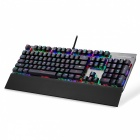 Motospeed CK108 RGB Backlit Verdrahtete mechanische Gaming Keyboard - Schwarz