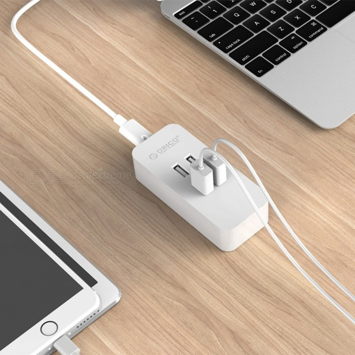ORICO 20W 4 Ports 5V 2.4A Smart Desktop USB Charger - White (US Plug)USB Hubs &amp; Switches<br>Form  ColorWhite(US Plug)ModelDCV-4UQuantity1 pieceMaterialABSShade Of ColorWhiteInterfaceUSB 2.0Powered ByAC ChargerPacking List1 x ORICO 20W 4 Ports USB Charger  1 x Detachable Power Cord  1 x User Manual<br>