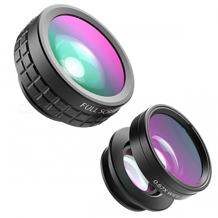 AUKEY Mini Clip-on Optic Cell Phone Camera Lens Kit - BlackLens &amp; Microscopes<br>Form  ColorBlackModelPL-A1Quantity1 DX.PCM.Model.AttributeModel.UnitMaterialAluminum alloy + glassShade Of ColorBlackCompatible ModelsUniversalLens EffectsWide angle,Fish eye,MacroPacking List1 x Clip1 x Fish glasses1 x Wide angle lens1 x Macro lens1 x Cloth pouch<br>