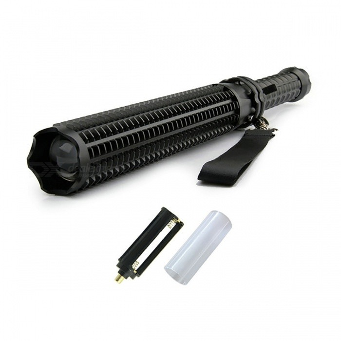 XM-L Q5 10W 5-Mode Flashlight Tactical Torch for Self-DefenseOther Flashlights<br>Form  ColorBlack (Package A)Quantity1 setMaterialAluminum AlloyNumber of Emitters1Color BINWhitePower Supply18650 or AAAVoltage- VCurrent- AActual Lumens600 lumensRuntime- hourNumber of Modes5Mode ArrangementHi,Mid,Low,Slow Strobe,SOSMode MemoryNoSwitch TypeReverse clickySwitch LocationTailcapLensGlassReflectorAluminum TexturedBeam Range200-500 mStrap/ClipStrap includedEmitter BINQ5Emitter BrandCreeEmitter BINQ5LED TypeXM-LPacking List1 x Flashlight (No battery, no charger)1 x Battery casing1 x Battery holder<br>